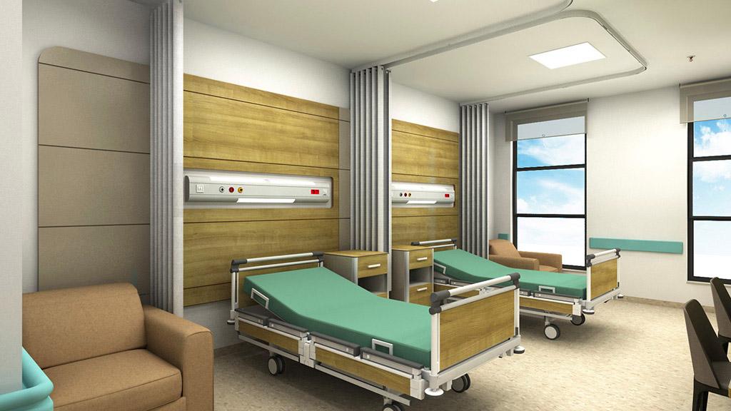 Çift Kişilik Hasta Odası Dekorasyonu